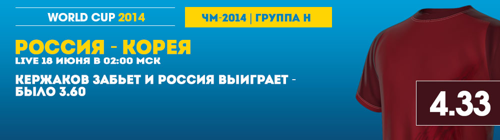 Россия - Корея ставки в William Hill